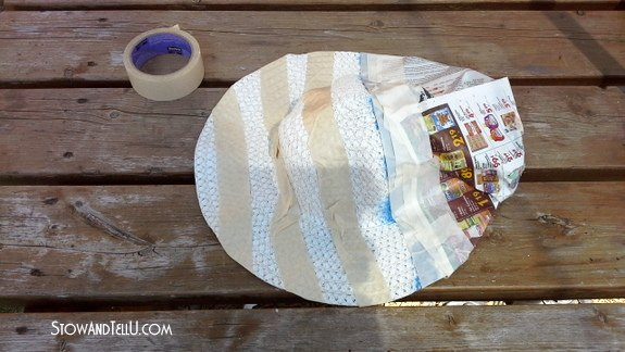 red white and blue straw hats, crafts, patriotic decor ideas, seasonal holiday decor