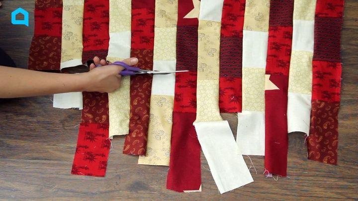 patriotic patchwork quilt flag