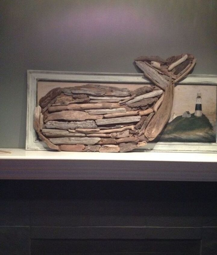 driftwood anchor, crafts, wall decor