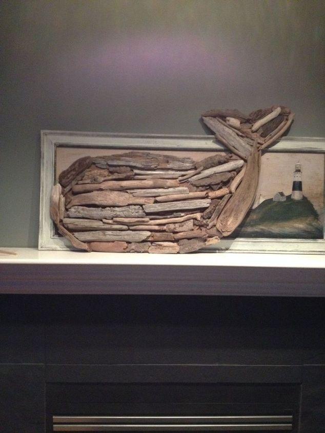 driftwood anchor, crafts, wall decor