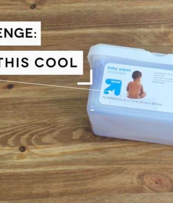 upcycle baby wipes box, organizing, repurposing upcycling, storage ideas