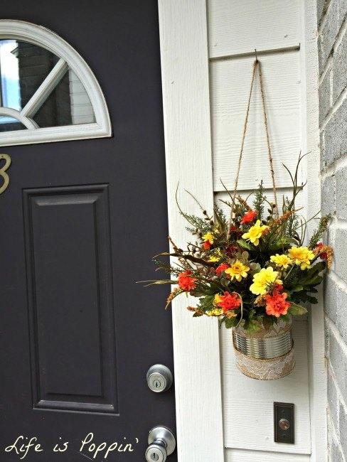 diy fall or any season can d cor, container gardening, gardening