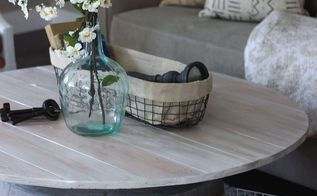 wine barrel coffee table, diy, home decor, how to, painted furniture, rustic furniture
