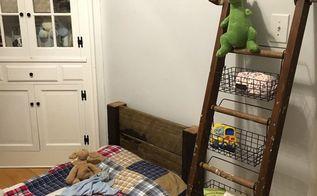 storage ladder, storage ideas, woodworking projects