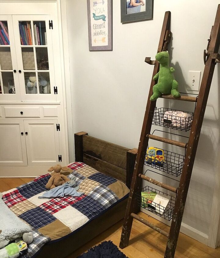 storage ladder, storage ideas, woodworking projects
