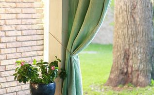 diy patio curtains using fabric dye backyardready, crafts, reupholster, window treatments