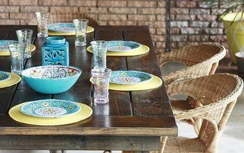 diy farmhouse table backyardready, painted furniture, rustic furniture