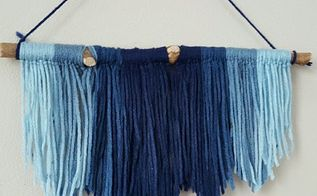 diy modern yarn wall hanging, crafts, how to, repurposing upcycling