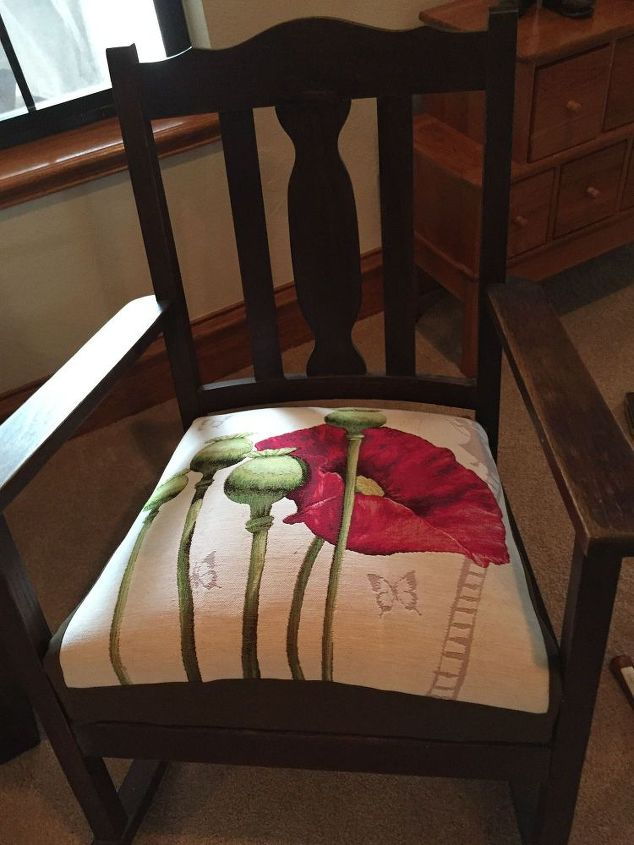 Terrific Reuphostered Shaker Style Rocking Chair Seat Hometalk Andrewgaddart Wooden Chair Designs For Living Room Andrewgaddartcom