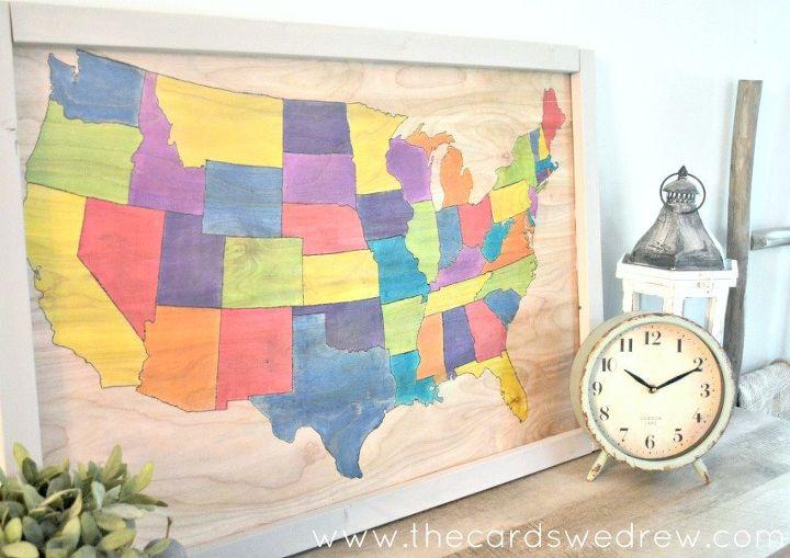 Wood United States Map.Diy Wooden United States Map Hometalk