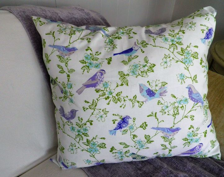 super easy diy throw pillow cover, crafts, how to, reupholster