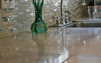 Marble Countertop Hack: How to Tile Over Laminate Countertop