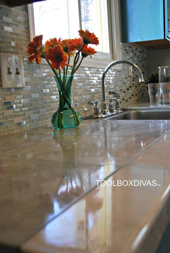 marble countertop hack how to tile over laminate countertop, countertops, how to, kitchen design, tiling