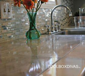Marble Countertop Hack How To Tile Over Laminate Countertop, Countertops, How  To, ...