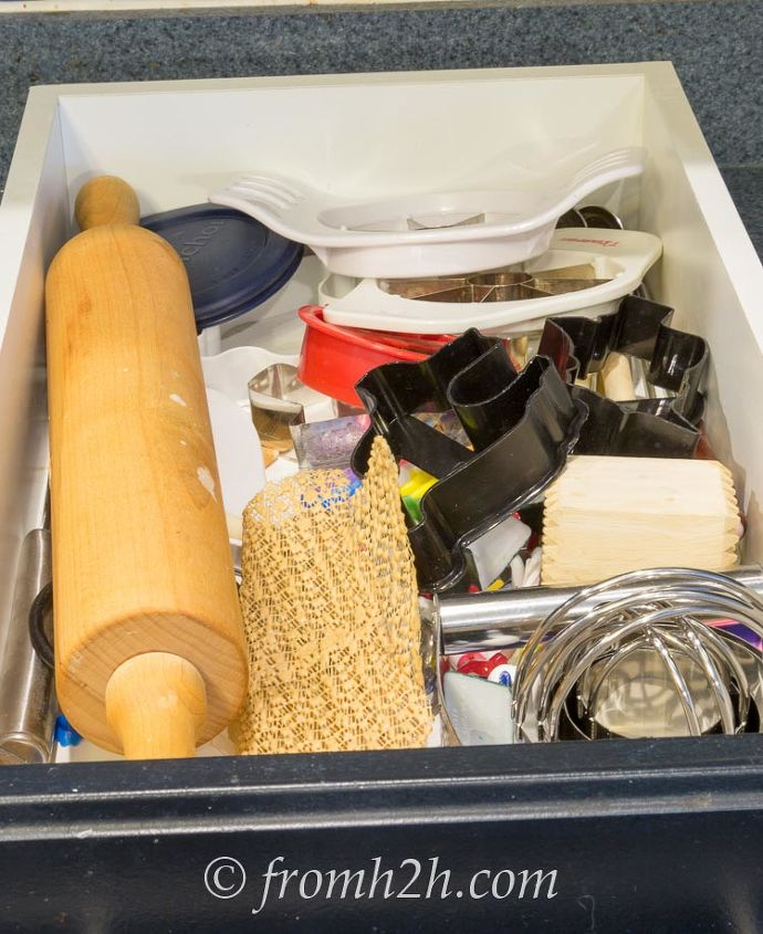 diy drawer organizer for baking supplies, organizing, storage ideas