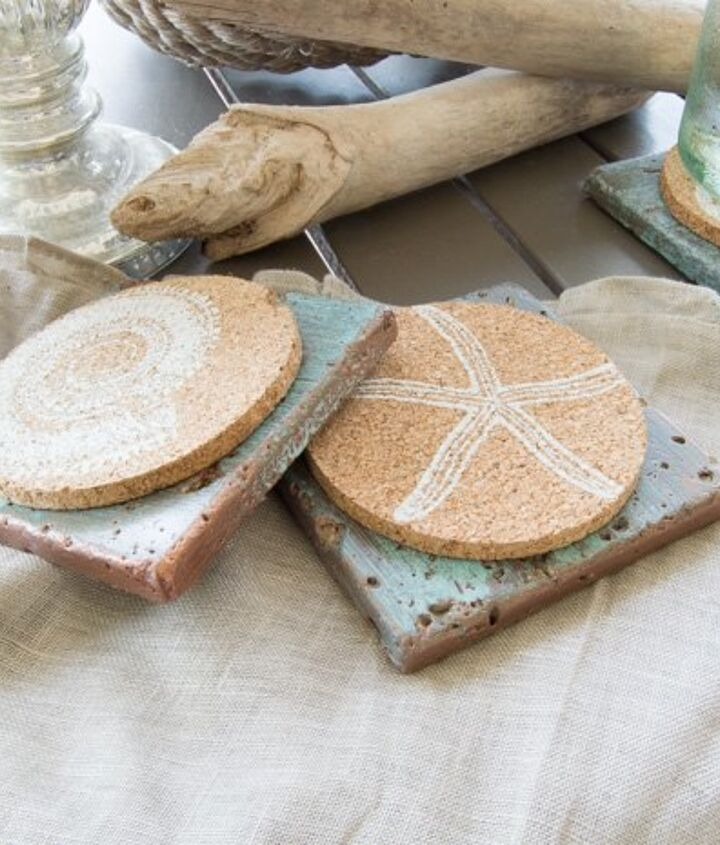 easy way to make a copper patina on tiles , painting, tiling