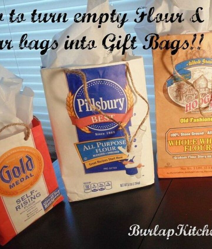 How To Turn Empty Flour Sugar Bags Into Gift Bags Hometalk