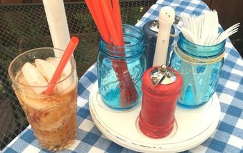 Patriotic Red, White, & Blue Picnic Caddy From the ThriftStore