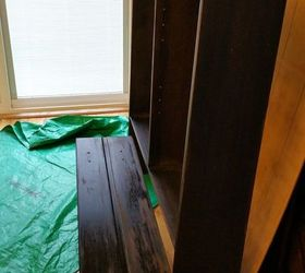 Refinished Ethan Allen Hutch, Painted Furniture, The First Coat Of Minwax  Stain Ebony