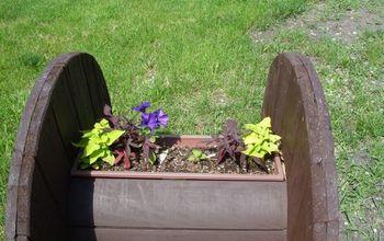 garden spools, container gardening, gardening, repurposing upcycling