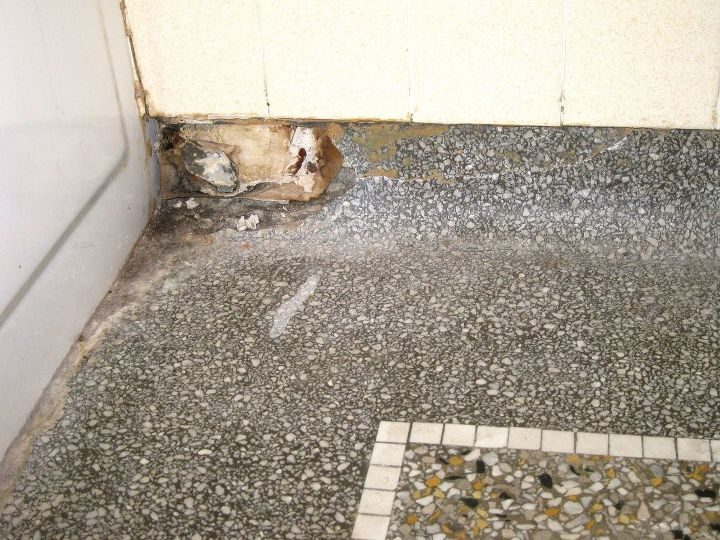 Q Terrazzo Floor Repair Needed Bathroom Ideas Flooring Home Maintenance Repairs Major