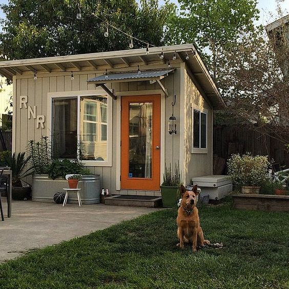 the she shed is taking over, garages, outdoor living, storage ideas