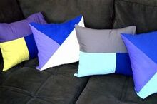 color block decorative pillows, crafts, how to, reupholster