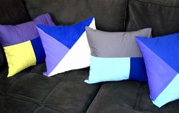 Make Designer Color Block Decorative Pillows for Just $6