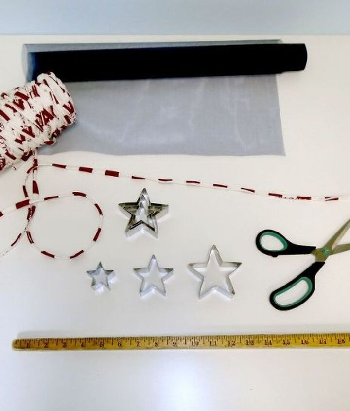 july fourth decorations dollar store cookie cutter garland, crafts, how to, patriotic decor ideas, repurposing upcycling, seasonal holiday decor