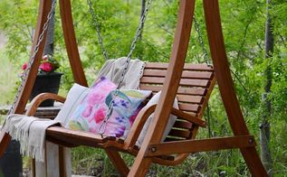 a secret garden swing retreat, outdoor furniture, outdoor living