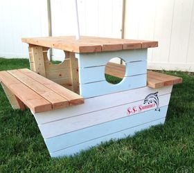 Build A Nautical Kids Picnic Table, How To, Outdoor Furniture, Outdoor  Living,