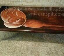 chiaroscuro calla lilly coffe table, painted furniture