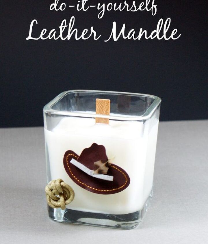 diy leather mandle for father s day, crafts, seasonal holiday decor