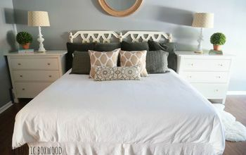 DIY Thrifted Headboard Using Chalk Paint