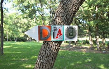 Father's Day Gift DIY: Dad Wall Art