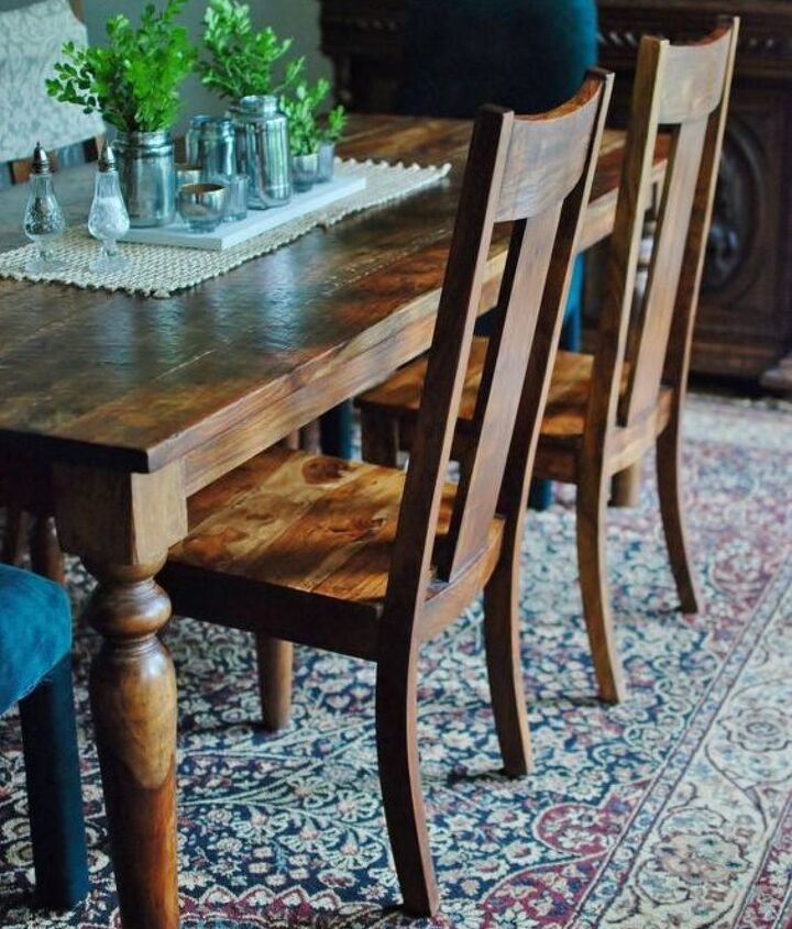when you don t want to paint your dining room chairs, dining room ideas, how to, reupholster