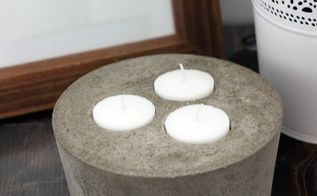 concrete candle holders, concrete masonry, crafts, how to