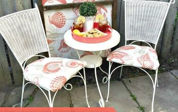 bistro set upcycle, outdoor furniture, painted furniture