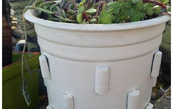 make a knock off crate barrel modern planter, container gardening, gardening, how to