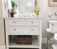 bye bye builder s grade bathroom renovation, bathroom ideas, home improvement