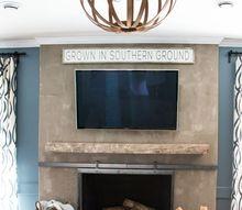 diy sliding fireplace screen, diy, fireplaces mantels, home improvement