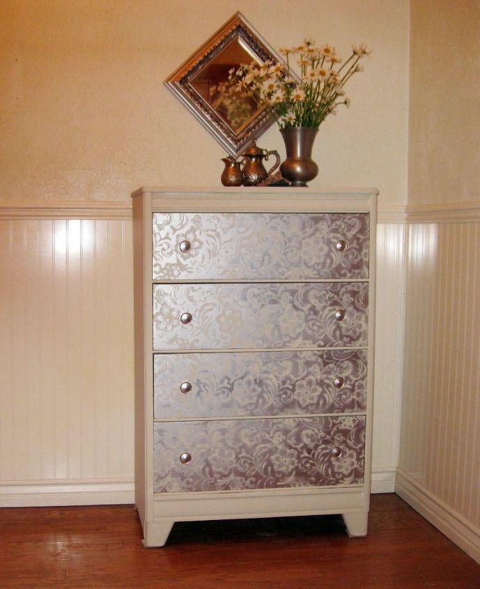 Dresser Makeover Silver Lace Hometalk