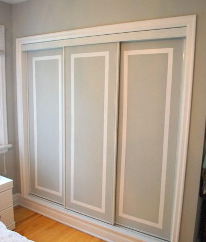 s 13 beauty hacks for your overstuffed closet, closet, doors, organizing, Dress up your simple doors with a paint trick