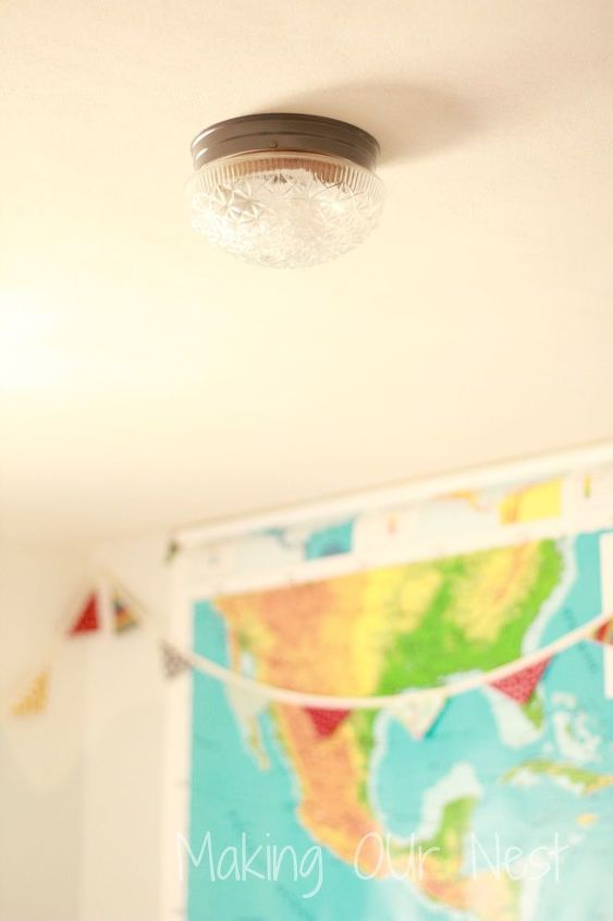 diy industrial light redo, bedroom ideas, lighting