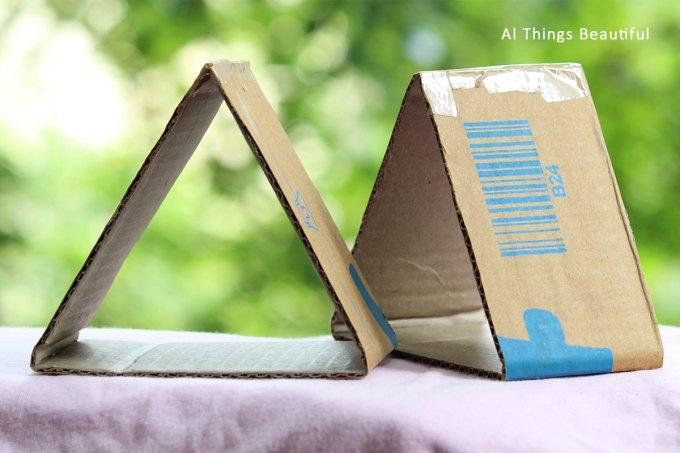 Cardboard triangular tubes