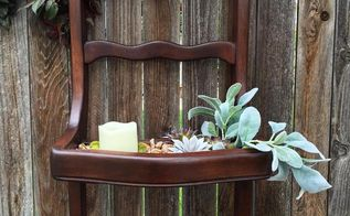 a broken old chair up cycled into a succulent wall planter, container gardening, flowers, gardening, repurpose household items, succulents