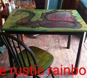 And Then My Unicorn Spit Out A Dragon , Painted Furniture