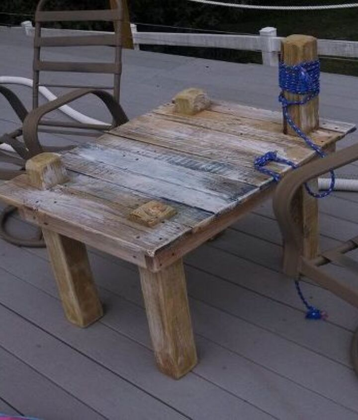 Dock Table from scraps