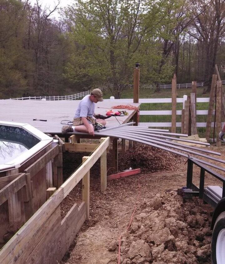 New decking going on.