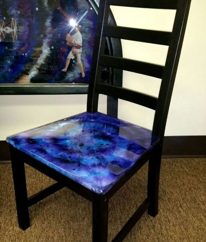 s 17 insanely easy ways to make ikea furniture look amazingly high end, painted furniture, Give a KAUSTBY chair a intergalactic update